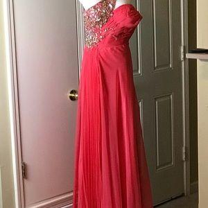 Cinderella_ One Shoulder Gown